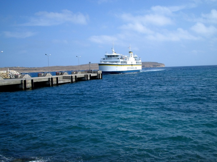 The Gozo Ferry with Gozo in the Background
