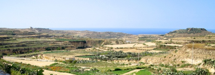 Gozitan Landscape: View from the Balcony to the Sea
